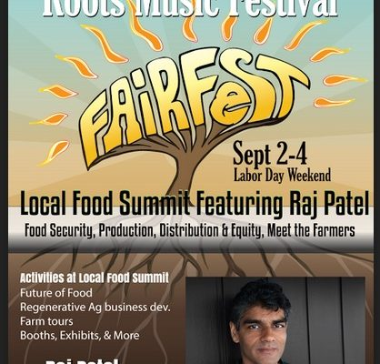 Local Food Summit Event at Fairfest Sept 3rd